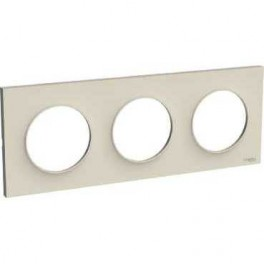 Plaque triple Odace Styl Sable